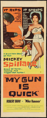 "My Gun is Quick (United Artists, 1957). Insert (14"" X 36""). Film Noir"
