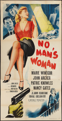 "No Man's Woman (Republic, 1955). Three Sheet (41"" X 81""). Mystery"