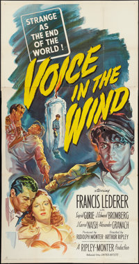 """Voice in the Wind (United Artists, 1944). Three Sheet (41"""" X 80""""). Drama"""