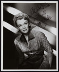 "Movie Posters:Romance, Eve Arden in Goodbye, My Fancy (Warner Brothers, 1951). Autographed Photo (8"" X 10""). Romance.. ..."