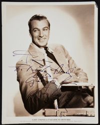 "Gary Cooper (Paramount, 1935). Autographed Portrait Photo (8"" X 10""). Miscellaneous"