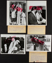 "Jayne Mansfield Lot (UPI / International News, 1958). News Photos (4) (7"" X 9"") and Restrike Photos (2) (8&quo..."