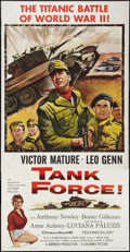 """Movie Posters:War, Tank Force & Others Lot (Columbia, 1958). Three Sheets (3) (41""""X 79""""). War.. ... (Total: 3 Items)"""