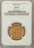 Liberty Eagles: , 1895-O $10 AU55 NGC. NGC Census: (67/578). PCGS Population(84/326). Mintage: 98,000. Numismedia Wsl. Price for problem fre...