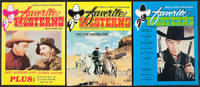 "Favorite Westerns Magazine Lot (Serial World Publishers, 1981-1986). Magazines (24) (Multiple Pages, 8.5"" X 11""..."