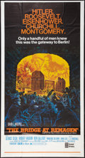 "Movie Posters:War, The Bridge at Remagen (United Artists, 1969). Three Sheet (41"" X77""). War.. ..."