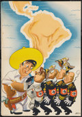 "Movie Posters:War, World War II Propaganda Poster (U.S. Office of Inter-AmericanAffairs, 1942). Poster (14"" X 20""). War.. ..."