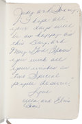 Music Memorabilia:Documents, Elvis and Priscilla Presley Gifted Bible to Sonny West (1970)....