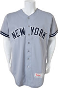 Baseball Collectibles:Uniforms, 1989 Mickey Mantle Old Timer's Game Worn New York Yankees Jersey....