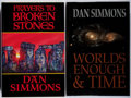 Books:Science Fiction & Fantasy, [Jerry Weist]. Dan Simmons. Group of Two Signed/Limited Editions. Various, 1990-2002. Slipcases. Fine.... (Total: 2 Items)