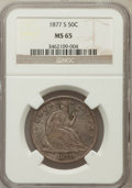 Seated Half Dollars: , 1877-S 50C MS65 NGC. NGC Census: (43/25). PCGS Population (29/16).Mintage: 5,356,000. Numismedia Wsl. Price for problem fr...