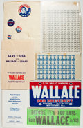 Books:Americana & American History, Group of George Wallace Political Campaign Items. Includes buttons,stickers, license plate, and other items. Most unused an...