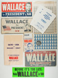 Books:Americana & American History, Group of George Wallace Political Campaign Items. Includes buttons,stickers, license plates, and other items. Most unused a...