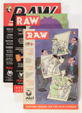 Modern Age (1980-Present):Alternative/Underground, Raw V2#1-3 and Night Drive Group (RAW, 1984-91) Condition: Average NM-.... (Total: 4 Items)
