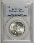 1952 50C Washington-Carver MS64 PCGS. PCGS Population (1532/958). NGC Census: (902/1204). Mintage: 2,006,292. Numismedia...