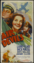 """Movie Posters:Adventure, Air Devils (Universal, 1938). Three Sheet (41"""" X 81""""). Adventure.Starring Larry Blake, Dick Purcell, Beryl Wallace and Mamo..."""