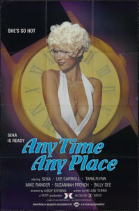"Any Time, Any Place (A-B Film, 1981). One Sheet (27"" X 41""). Adult. Starring Seka, Lee Carroll, Tara Flynn and..."