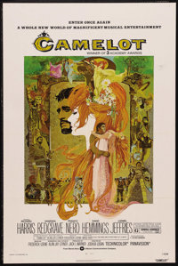 """Camelot (Warner Brothers, R-1973). One Sheet (27"""" X 41""""). Musical. Starring Richard Harris, Vanessa Redgrave..."""