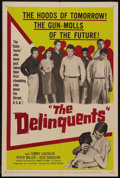 "Movie Posters:Drama, The Delinquents (United Artists, 1957). One Sheet (27"" X 41"").Drama. Starring Tom Laughlin, Peter Miller, Richard Bakalyan ..."