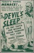 "Movie Posters:Crime, The Devil's Sleep (Screen Classics Inc., 1949). One Sheet (27"" X41""). Crime. Lita Grey, John Mitchum, William Thomason and ..."