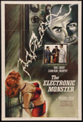 "Movie Posters:Science Fiction, The Electronic Monster (Columbia, 1958). One Sheet (27"" X 41"").Science Fiction. Starring Rod Cameron, Mary Murphy, Meredith..."