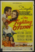 """Movie Posters:Action, The Fighting O'Flynn (Universal International, 1949). One Sheet (27"""" X 41""""). Action. Starring Douglas Fairbanks Jr., Helena ..."""