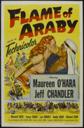"Movie Posters:Adventure, Flame of Araby (Universal International, 1951). One Sheet (27"" X41""). Very Irish (and pale) Maureen O'Hara has fun in the d..."