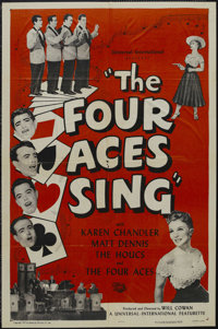 """The Four Aces Sing (Universal International, 1945). One Sheet (27"""" X 41""""). Musical Short. Starring The Four Ac..."""