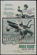 "Movie Posters:War, Hellcats of the Navy (Columbia, 1957). One Sheet (27"" X 41""). War.Starring Ronald Reagan, Nancy Davis, Arthur Franz and Rob..."