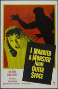 "Movie Posters:Science Fiction, I Married a Monster From Outer Space (Paramount, 1958). One Sheet(27"" X 41""). This sci-fi classic tells the story of a youn..."