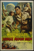 """Movie Posters:Science Fiction, Jungle Moon Men (Columbia, 1995). One Sheet (27"""" X 41""""). Sci-Fi.Starring Johnny Weissmuller, Jean Byron, Helene Stanton and..."""