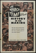 """Movie Posters:Documentary, The March of Time (20th Century-Fox, R-1952). One Sheet (27"""" X 41""""). Newsreel. """"History in the Making"""". Created by Roy Edwar..."""