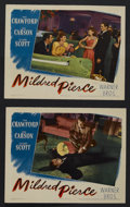 """Movie Posters:Film Noir, Mildred Pierce (Warner Brothers, 1945). Lobby Cards (2) (11"""" X 14""""). """"The kind of Woman most men want -- but shouldn't have!... (Total: 2 Items)"""