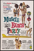 "Movie Posters:Cult Classic, Muscle Beach Party (American International, 1964). One Sheet (27"" X41""). Musical Comedy. Starring Frankie Avalon, Annette F..."