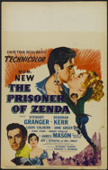 "Movie Posters:Adventure, The Prisoner of Zenda (MGM, 1952). Window Card (14"" X 22""). Drama.Starring Stewart Granger, Deborah Kerr, Louis Calhern and..."