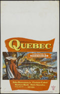 "Movie Posters:Adventure, Quebec (Paramount, 1951). Window Card (14"" X 22""). Adventure.Starring John Drew Barrymore, Corinne Calvet, Barbara Rush and..."