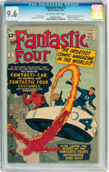 Silver Age (1956-1969):Superhero, Fantastic Four #3 (Marvel, 1962) CGC NM+ 9.6 Off-white to whitepages....