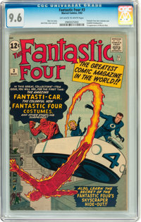 Fantastic Four #3 (Marvel, 1962) CGC NM+ 9.6 Off-white to white pages
