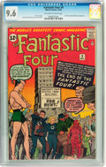 Silver Age (1956-1969):Superhero, Fantastic Four #9 (Marvel, 1962) CGC NM+ 9.6 Off-white to whitepages....