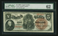 Large Size:Legal Tender Notes, Fr. 70 $5 1880 Legal Tender PMG Uncirculated 62.. ...