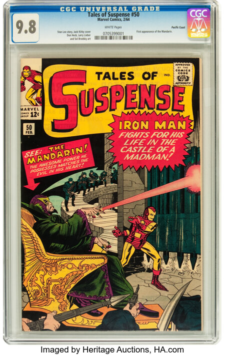 Tales of Suspense #50 Pacific Coast pedigree (Marvel, 1964) CGC NM/MT 9.8 White pages....