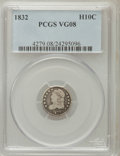 Bust Half Dimes: , 1832 H10C VG8 PCGS. PCGS Population (2/768). NGC Census: (1/808).Mintage: 965,000. Numismedia Wsl. Price for problem free ...