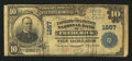 National Bank Notes:Maryland, Frederick, MD - $10 1902 Plain Back Fr. 624 The Farmers &Mechanics NB Ch. # 1267. ...