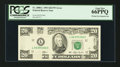 Error Notes:Missing Magnetic Ink, Fr. 2080-L $20 1993 Federal Reserve Note. PCGS Gem New 66PPQ.. ...