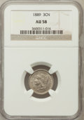 Three Cent Nickels: , 1889 3CN AU58 NGC. NGC Census: (20/153). PCGS Population (30/168).Mintage: 18,100. Numismedia Wsl. Price for problem free ...