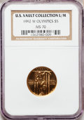 Modern Issues, 1992-W G$5 Olympic Gold Five Dollar MS70 NGC. Ex: U.S. VaultCollection L/M. NGC Census: (0). PCGS Population (346). Mintag...