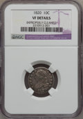 Bust Dimes: , 1820 10C Large 0 -- Improperly Cleaned -- NGC Details. VF. NGCCensus: (3/216). PCGS Population (5/158). Mintage: 942,587. ...