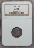 Bust Dimes: , 1821 10C Large Date AU53 NGC. NGC Census: (8/147). PCGS Population(10/109). Mintage: 1,186,512. Numismedia Wsl. Price for ...