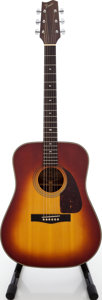 Musical Instruments:Acoustic Guitars, 1980s Fender F-200-SB Sunburst Acoustic Guitar, Serial # 0604820....
