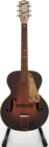 Musical Instruments:Acoustic Guitars, 1930s Norwood Artist Sunburst Archtop Acoustic Guitar....